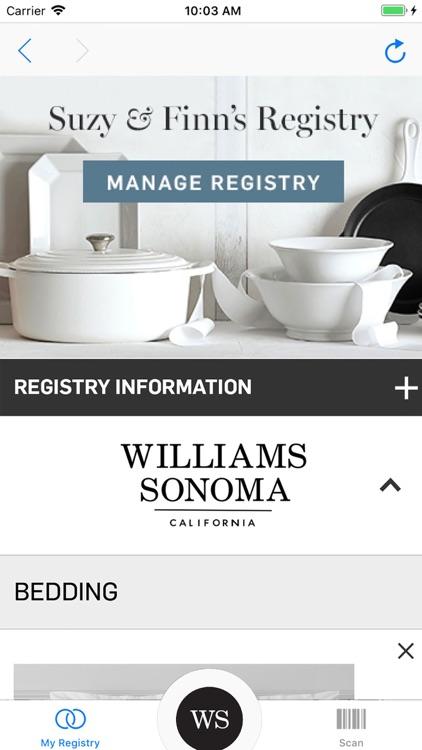 Williams Sonoma Gift Registry