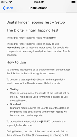 Digital Finger Tapping Test on the App Store