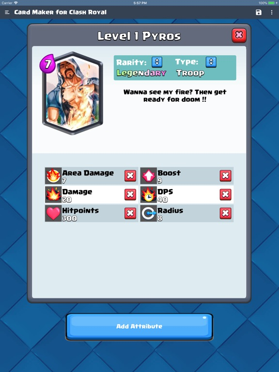 Card Maker for Clash Royale screenshot 4