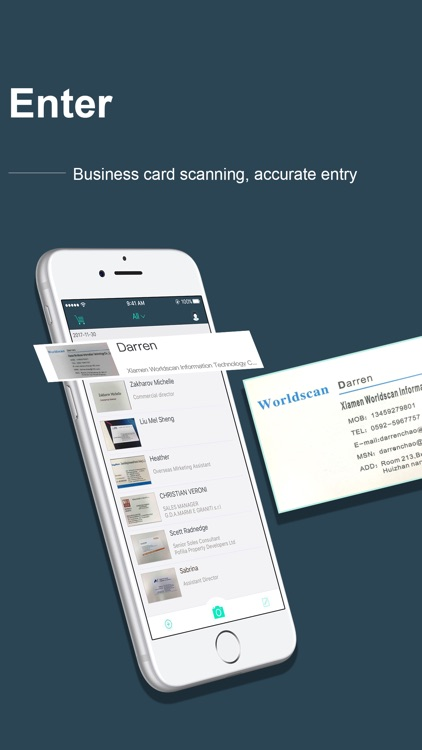 FoxCard-Card scanner OCR Scan screenshot-0
