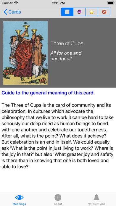 Tarot Meanings review screenshots