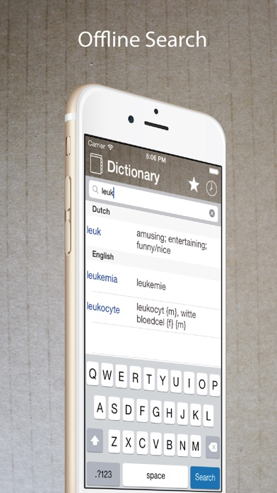 Dutch English Dictionary Lite Screenshot on iOS