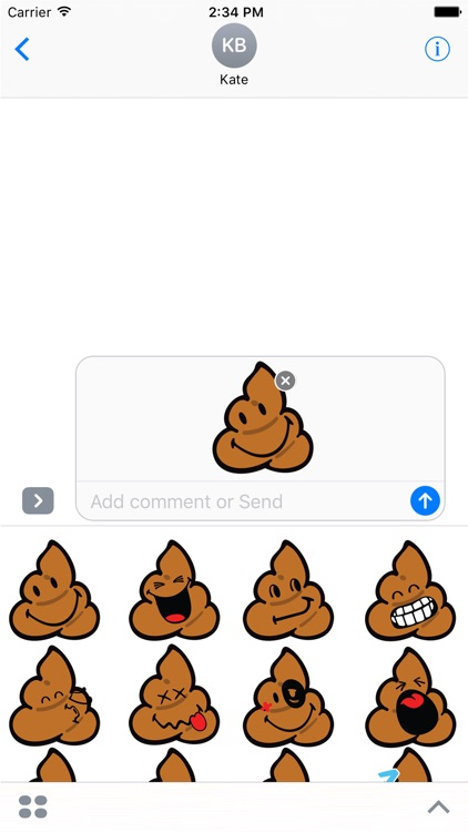Smiley Poopy Stickers
