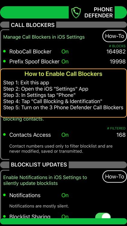Phone Defender - Call Blocker screenshot-3