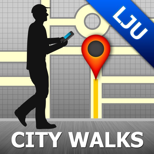 Ljubljana Map & Walks (F)