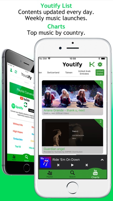 Youtify review screenshots