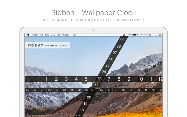 Ribbon - Wallpaper Clock
