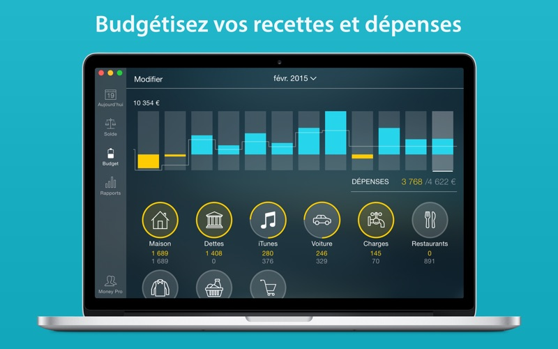 Screenshot Money Pro: Suivi de dépenses
