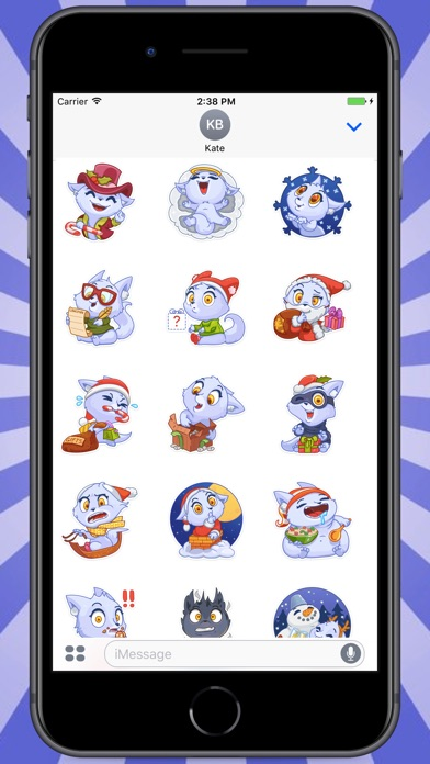 Screenshot for Snowy White Cat Stickers in Colombia App Store