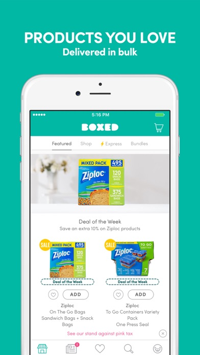 Screenshot 0 for Boxed.com's iPhone app'