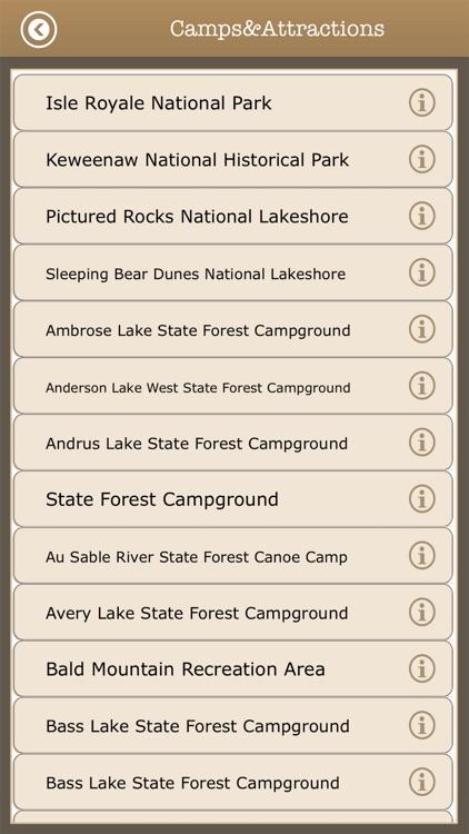 Michigan Camps & Trails,Parks