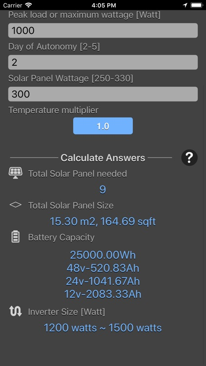 Solar Panel Calculator Plus