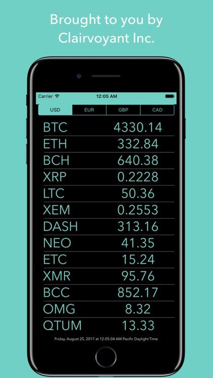 Crypto Monitor: Bitcoin Ticker screenshot-4