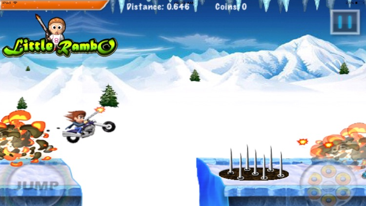 Little Rambo Shooting & Racing screenshot-0