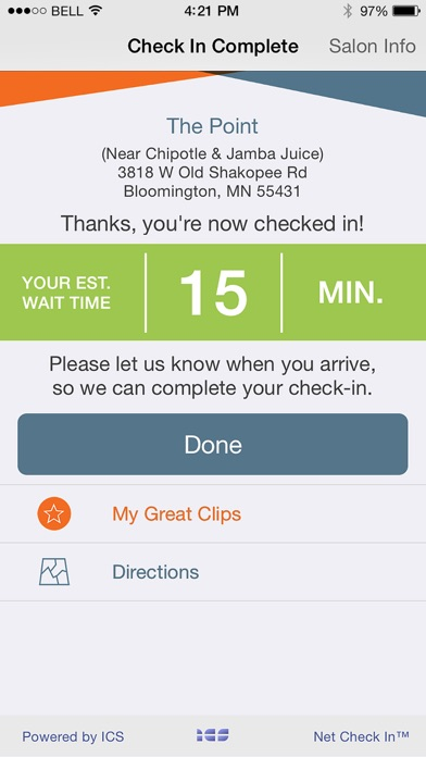 Great Clips Online Check In review screenshots