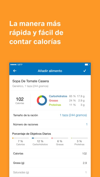 Screenshot for MyFitnessPal in Peru App Store