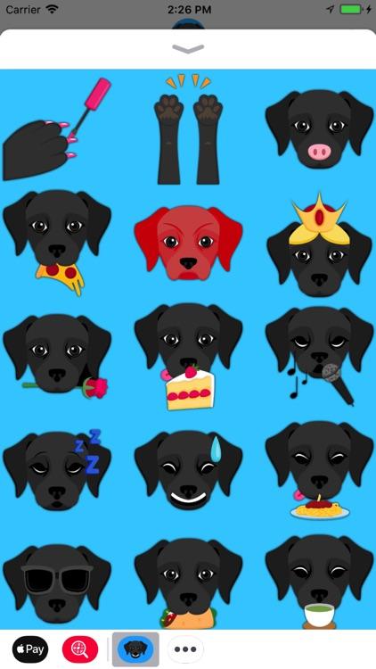 Black Labrador Emoji screenshot-3