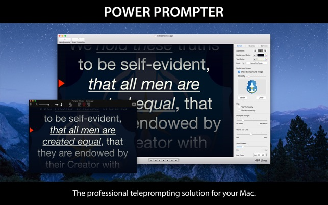 The Mac teleprompter made for content creators.