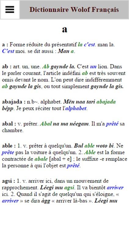Dictionnaire Français Wolof screenshot-3