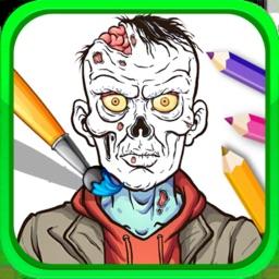 Zombie Coloring Book Pixie Art
