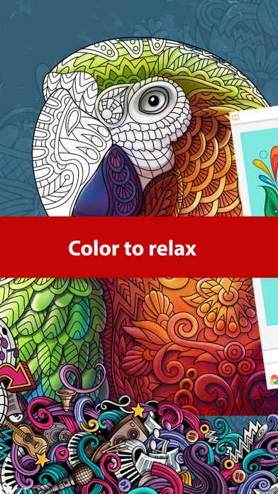 Doodle Color: Coloring Book by RoboNacho Systems, LLC (iOS, United