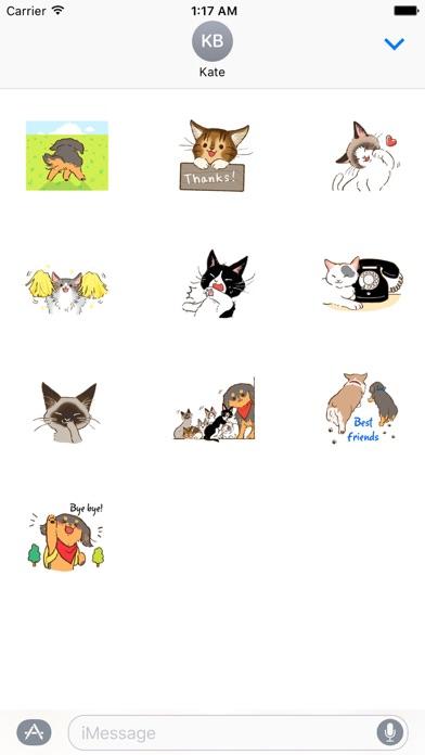 Cute Dachshund Dog Sticker screenshot 3