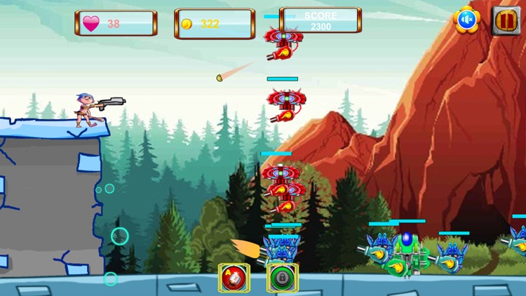 Caveman VS Aliens Robots screenshot-3