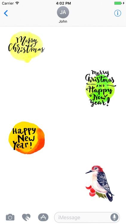 Watercolor Birds Stickers