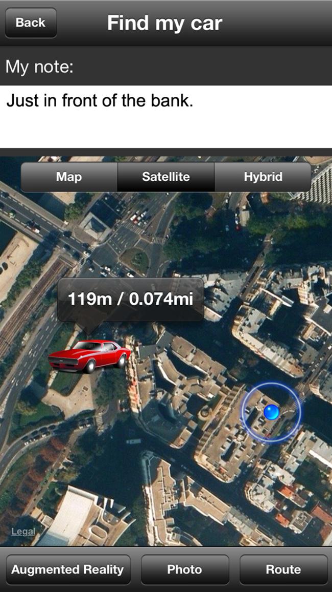 Mein Auto zu finden Screenshot