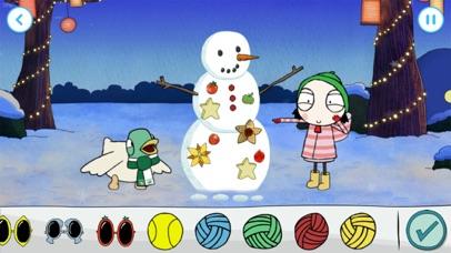 Sarah & Duck: Build a Snowman screenshot 2