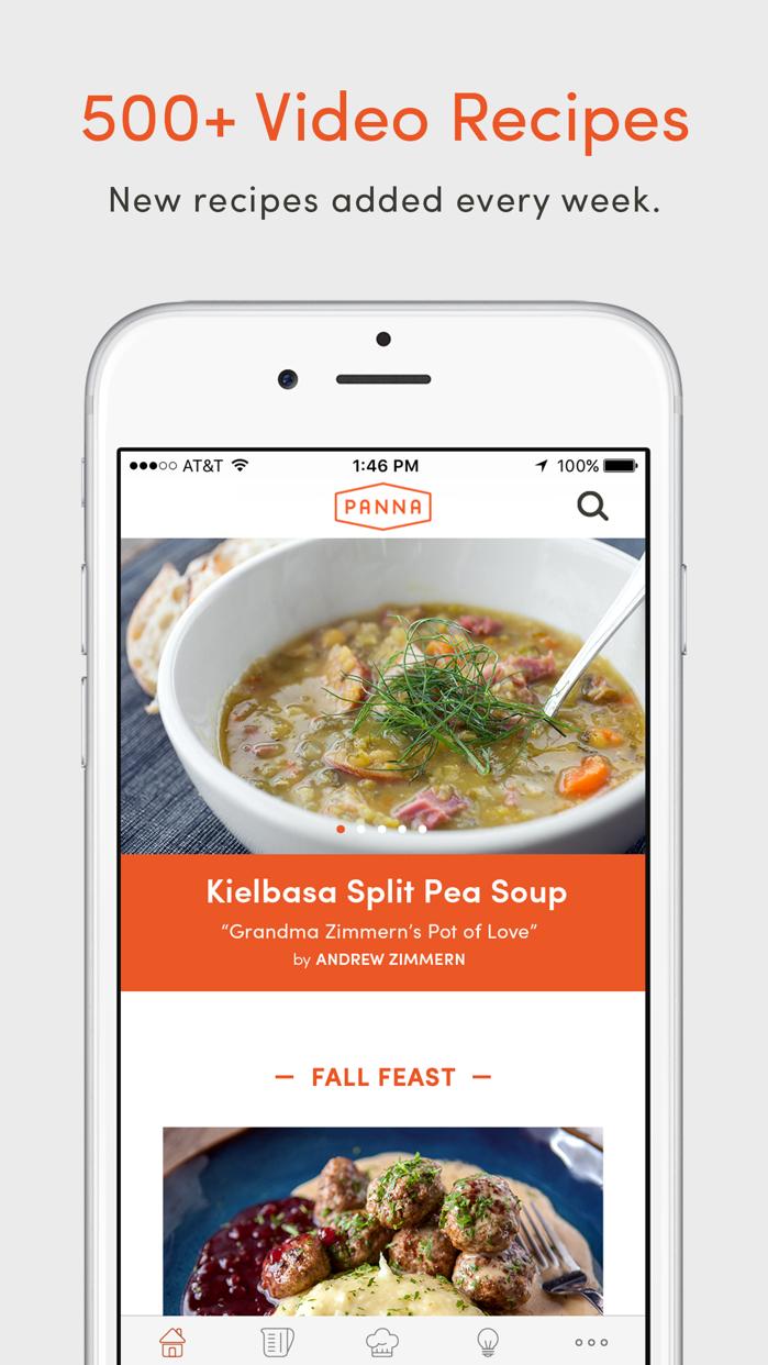Panna: Video Recipes & Classes Screenshot