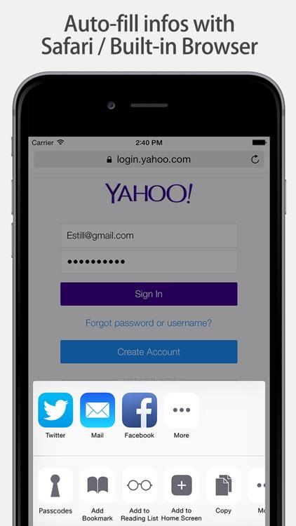 Lock Password Manager safe App screenshot-4