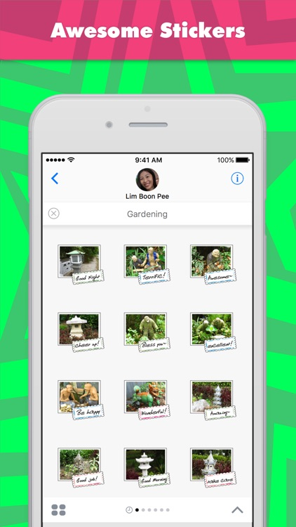 Gardening stickers by wenpei