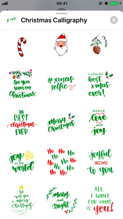 Christmas Calligraphy screenshot-4