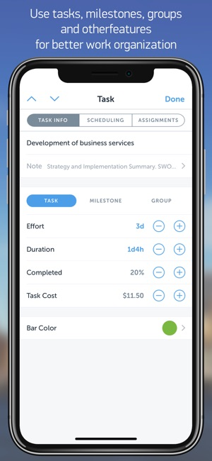 Project office gantt charts on the app store ccuart Gallery