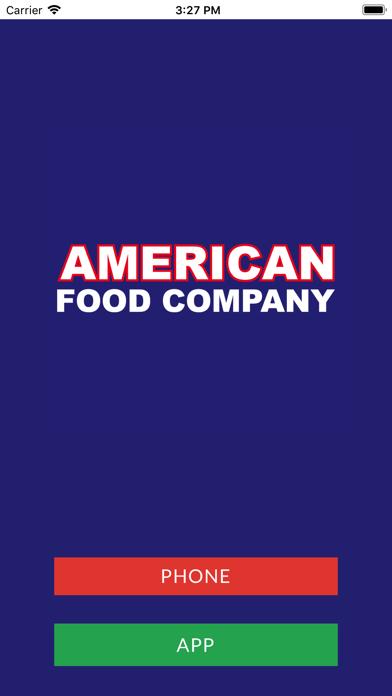 American Food Company screenshot one