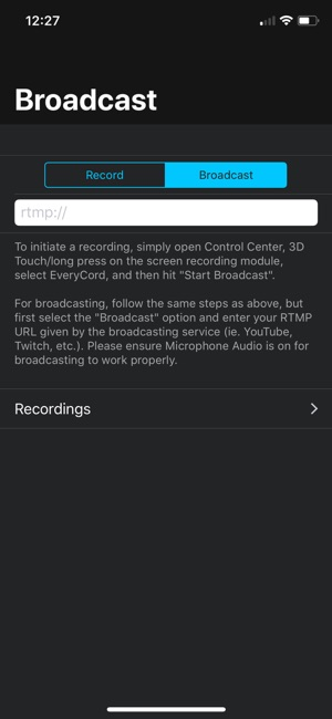 EveryCord – Record & Broadcast Screenshot