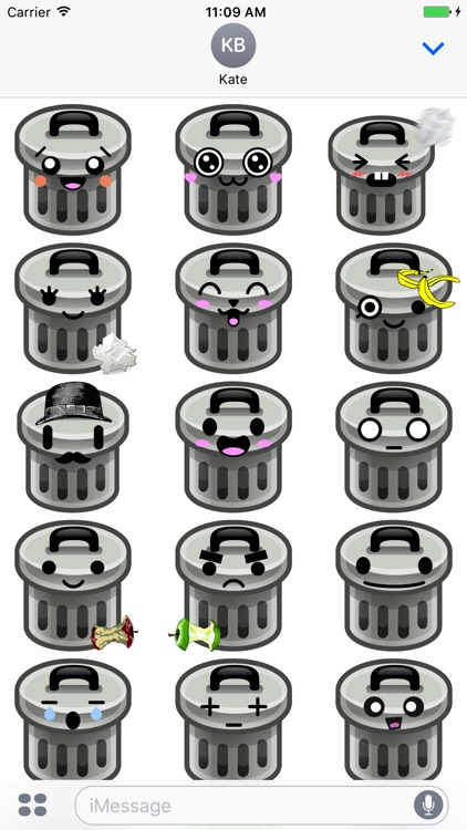 TrashMoji - Trash Can Emojis