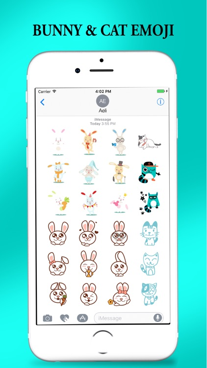 Bunny Cat Stickers for iMessage