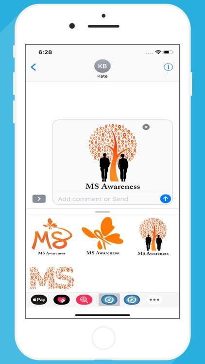 MS Awareness Stickers