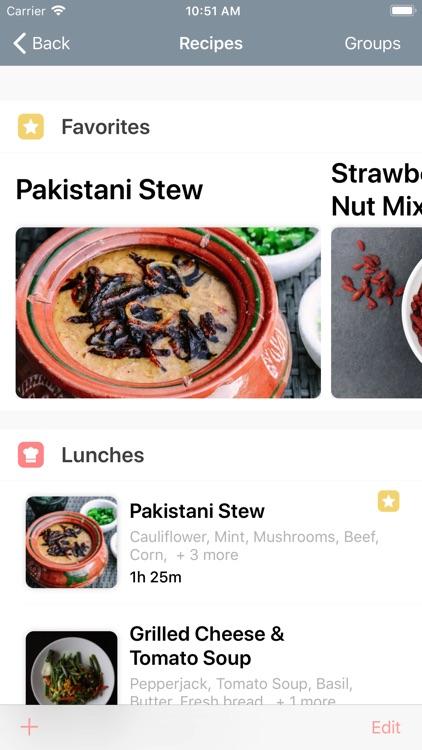 Caramel Grocery List