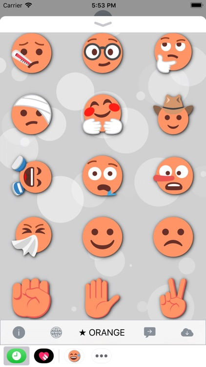 ORANGE Emoji • Stickers screenshot-4