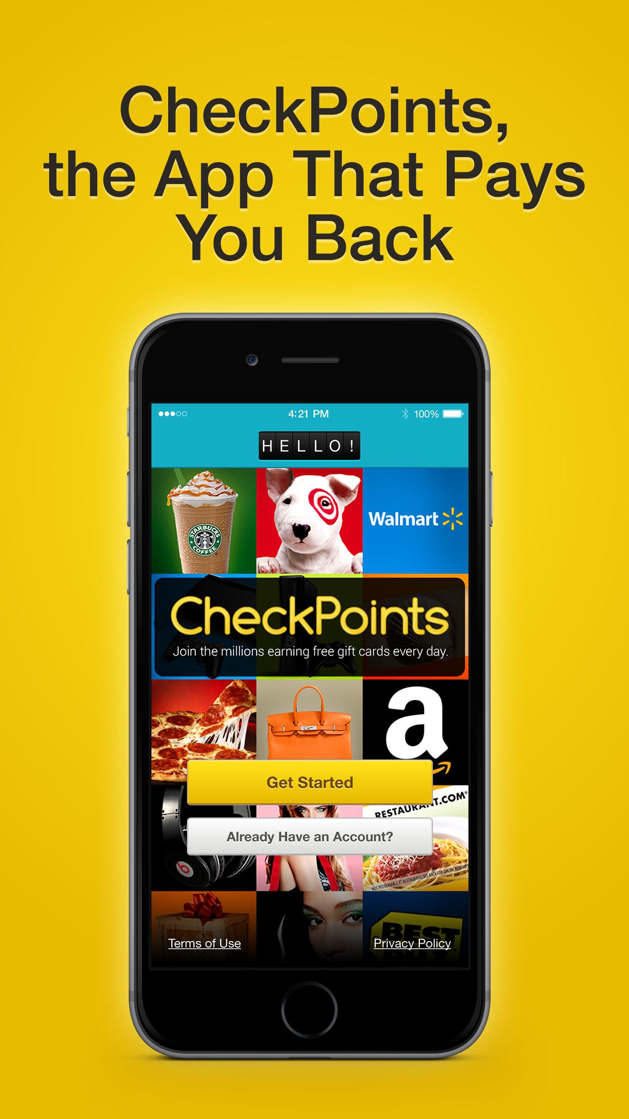 CheckPoints #1 Rewards App Screenshot