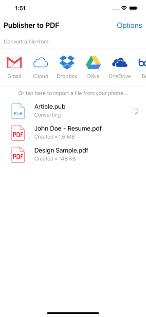 Publisher to PDF Converter on the App Store