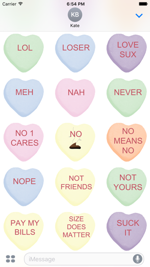 Candy Hearts 2 Stickers On The App Store