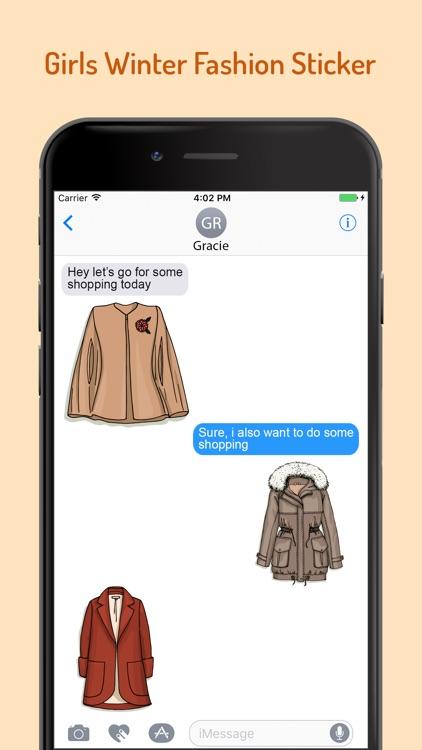 Girls Winter Fashion EMojis screenshot-3