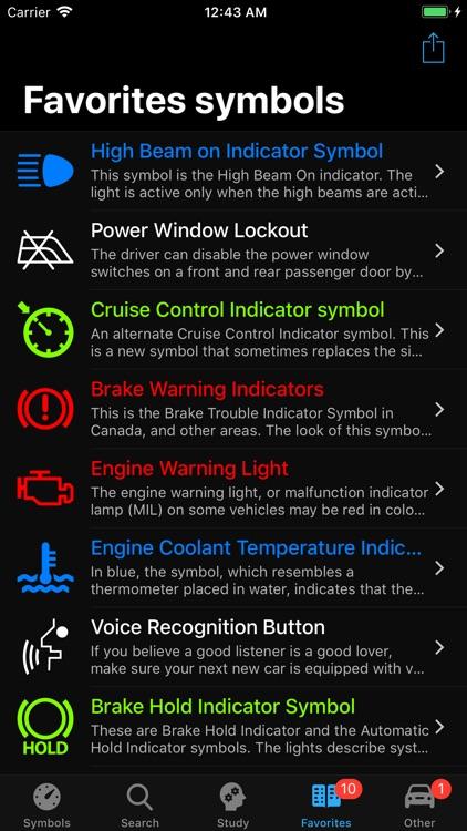 Car Dashboard Symbols screenshot-7
