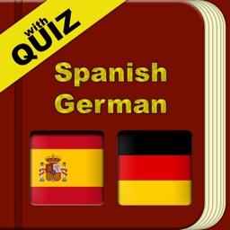 Spanish German Dictionary with Quiz