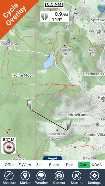 Dartmoor National Park - GPS Map Navigator screenshot-3