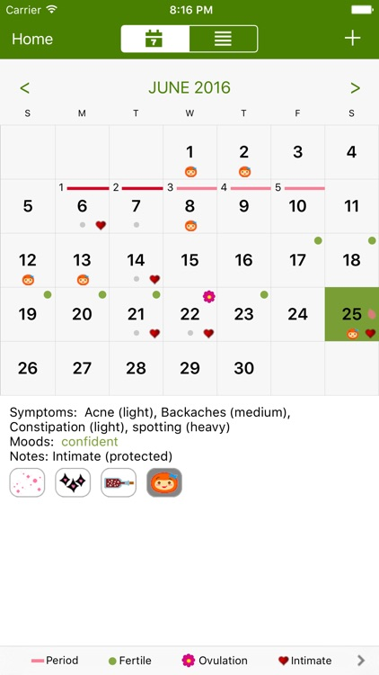 Period Tracker Deluxe screenshot-1